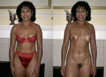 Amateur Dressed And Undressed Before And After; Amateur