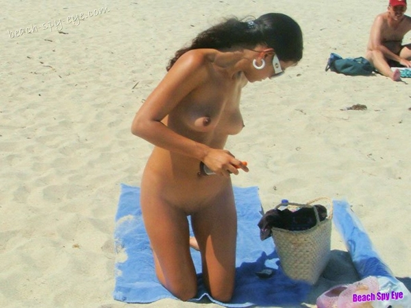 Cunts on Beach - That's just part of the naked adventure on public for this outstanding nude beach chick!; Amateur Beach