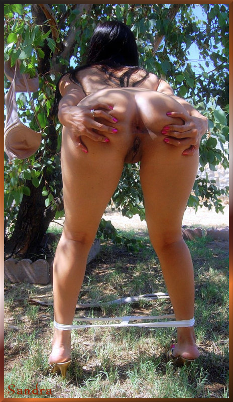 Sandra loves knowing her photos get seen, so share this around...; Amateur Ass Babe Latina Milf