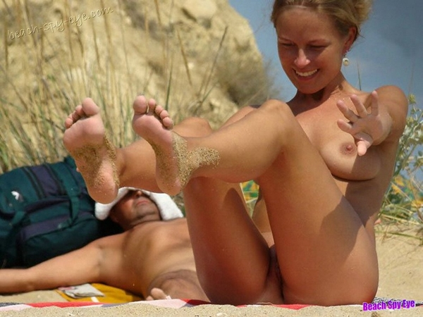 Cunts on Beach - Beach couples, and single women, can just relax naked in the sun, soak in the hot spa, get hot with each other!; Amateur Beach