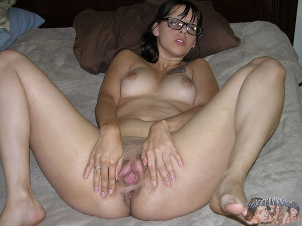 Nice Spread; Unshaven Pussy